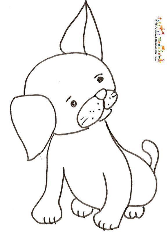 Coloriage page 2 - Dessin chien mignon ...