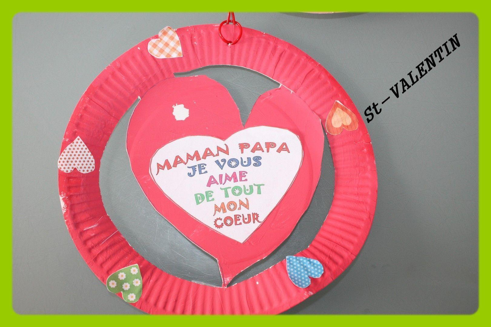 Activit manuelle carte pour la f te des m res pictures to - Bricolage facile st valentin ...